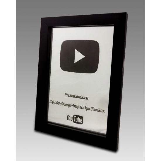 Ayna Desen İşlemeli Youtuber Ödül Plaket