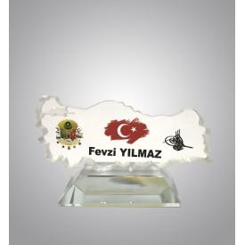 Türkiye Haritası Kristal Plaket