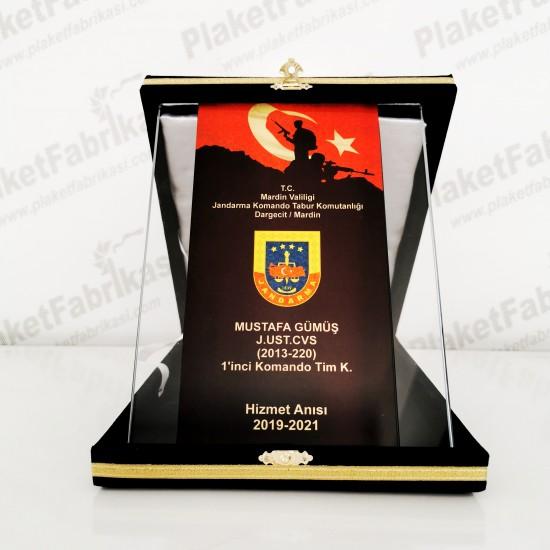 KP 393 Jandarma Kristal Plaket