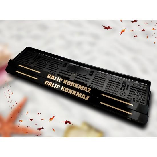 Kişiye Özel Gold Pleksi Lazer Kesim Plakalık